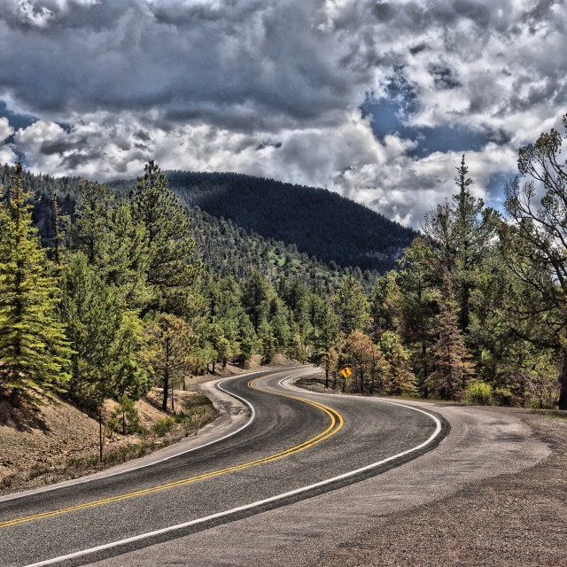 """Long and Winding Road"" stock image"