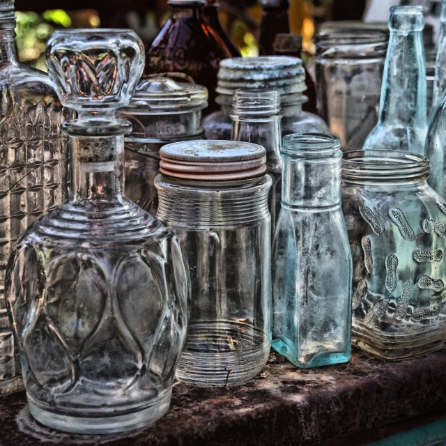 """Glass Bottles"" stock image"