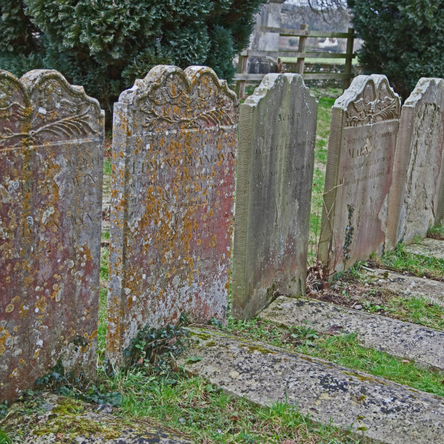 """gravestones, henley on thames"" stock image"