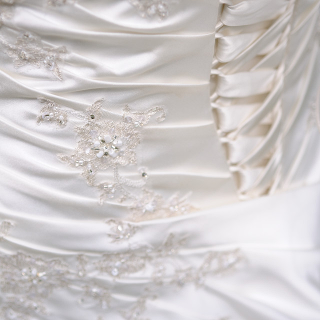 """Wedding dress detail"" stock image"