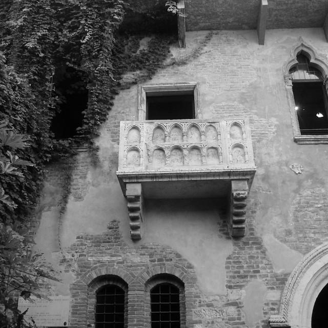 """""""Romeo and Juliet Balcony - Verona"""" stock image"""