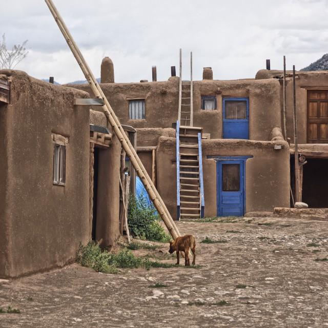 """""""Pueblo Homes"""" stock image"""