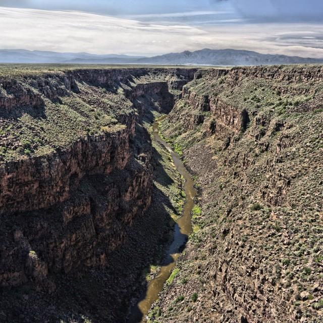 """""""Rio Grande Gorge 3"""" stock image"""