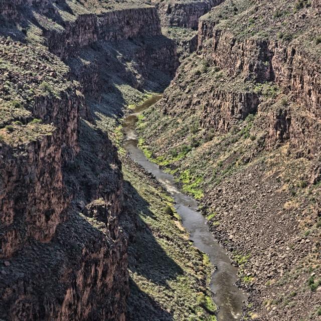 """""""Rio Grande Gorge 2"""" stock image"""