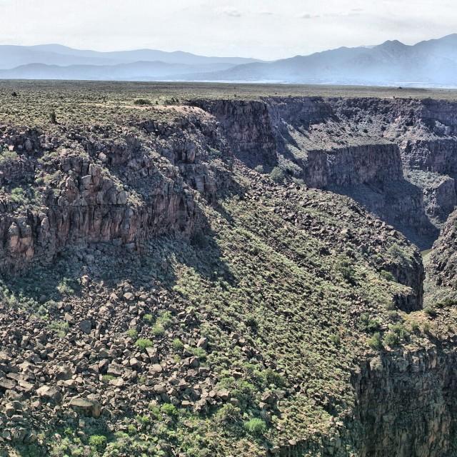 """""""Rio Grande Gorge"""" stock image"""