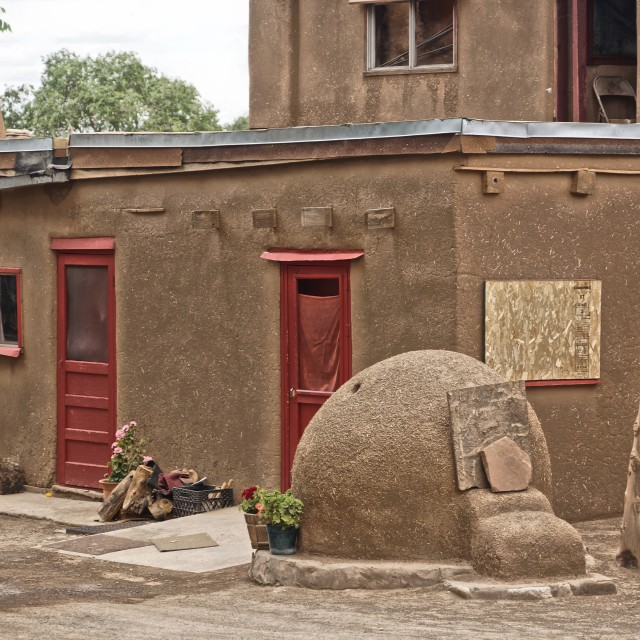 """Adobe Housing Pueblo"" stock image"