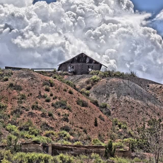 """""""House On A Hill"""" stock image"""