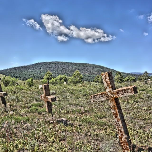 """Elizabeth Town NM Cemetery 5"" stock image"
