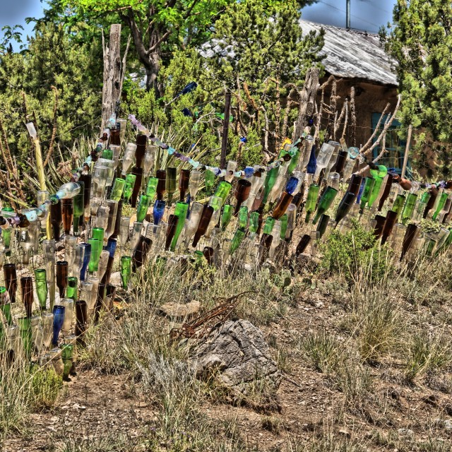 """""""Colorful Fence 1"""" stock image"""