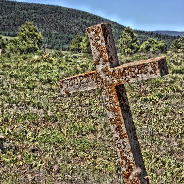 """Elizabeth Town NM Cemetery 2"" stock image"