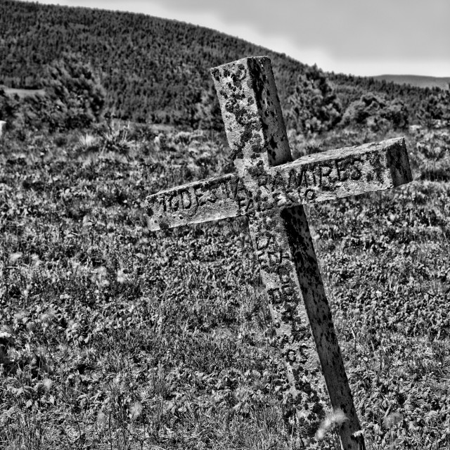 """Elizabeth Town NM Cemetary 1"" stock image"