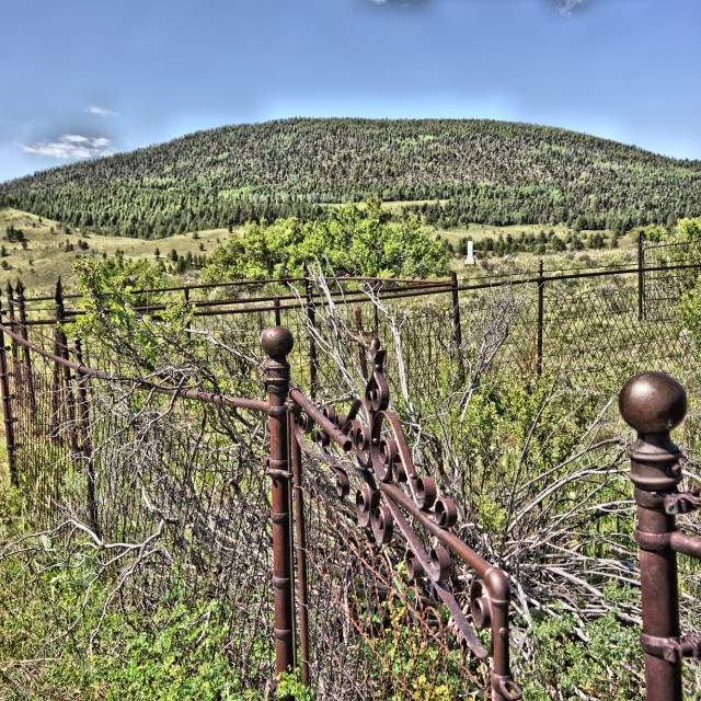 """Elizabeth Town NM Cemetery 3"" stock image"