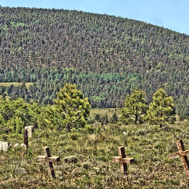 """Elizabeth Town NM Cemetery 4"" stock image"