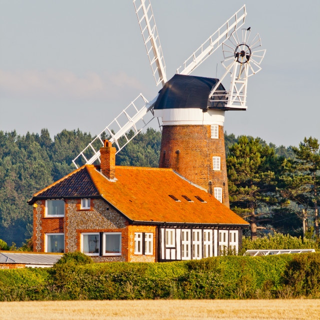 """Norfolk Windmill"" stock image"