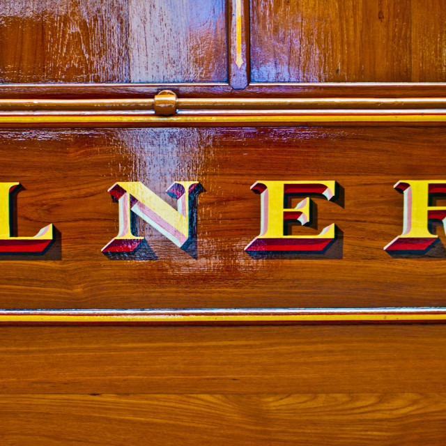 """LNER on Teak Coach"" stock image"