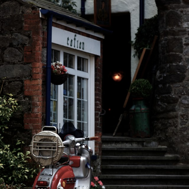 """Lambretta Evening"" stock image"