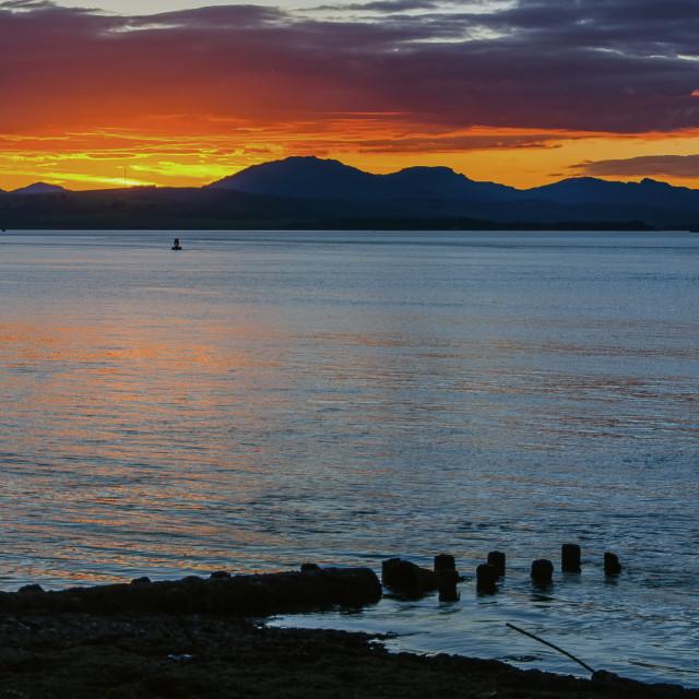 """""""Argyll sunset"""" stock image"""