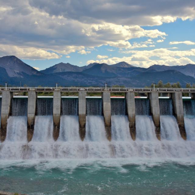 """Hydro Dam Spillway"" stock image"