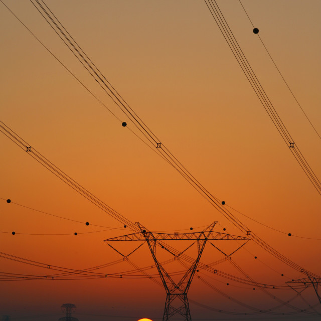 """Electricity power lines"" stock image"