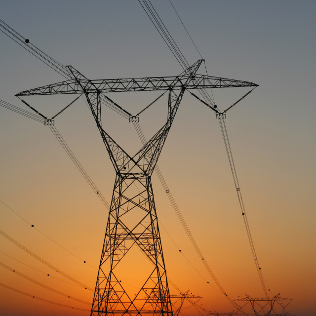"""""""Electricity power lines"""" stock image"""