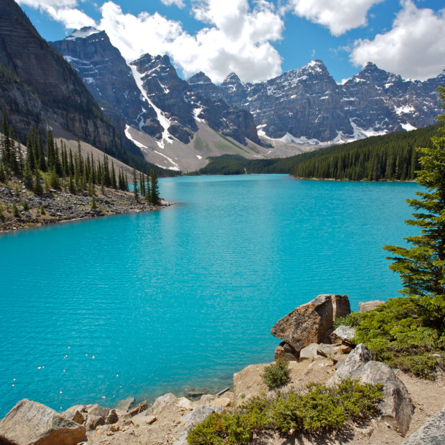 """Moraine Lake in Banff National Park"" stock image"