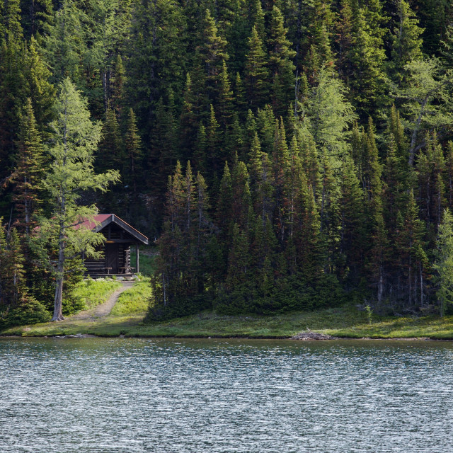 """Cabin at the lake"" stock image"