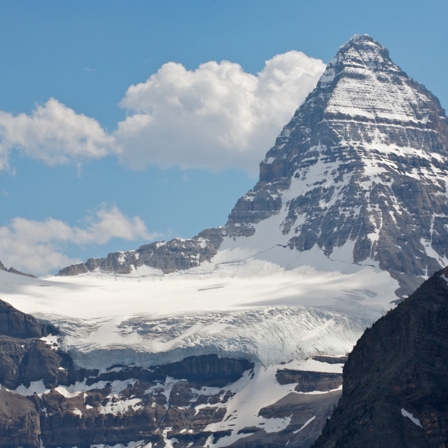 """""""Mount Assiniboine in the Rocky Mountains of Canada"""" stock image"""