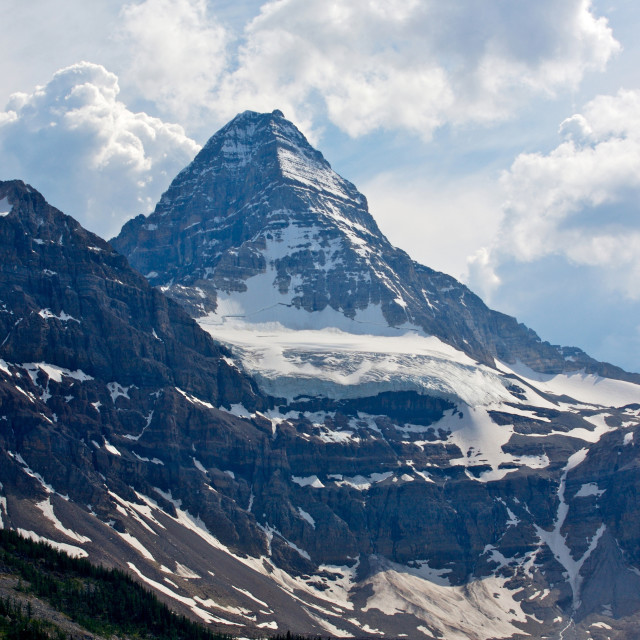 """Mount Assiniboine in the Rocky Mountains of Canada"" stock image"
