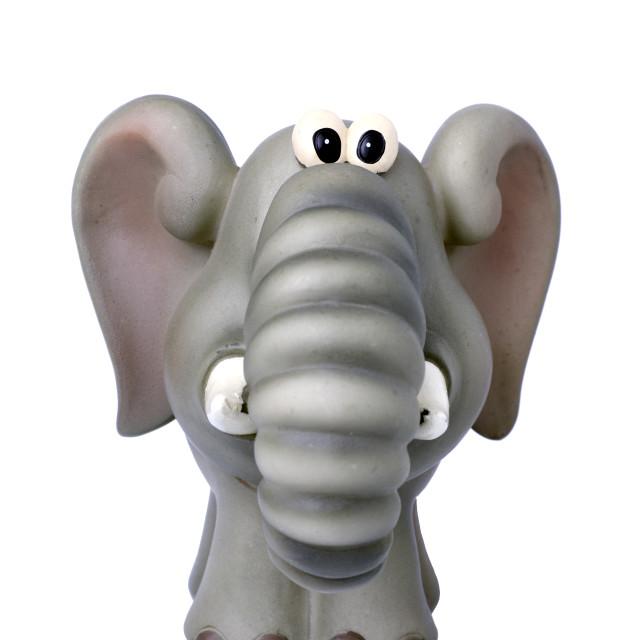 """Elephant Figurine"" stock image"
