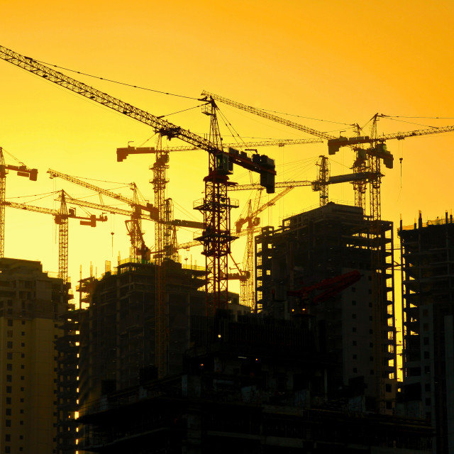 """High rise apartment building construction"" stock image"