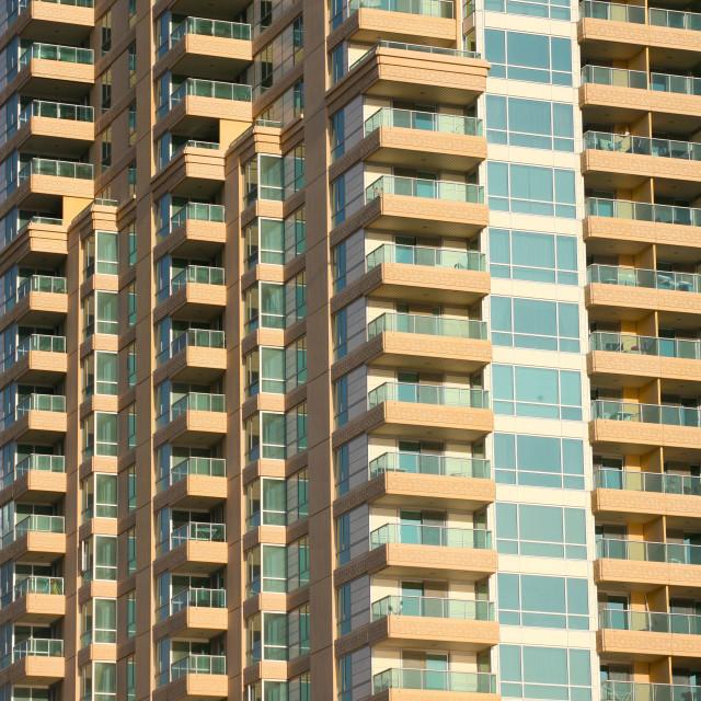 """Apartment buildings"" stock image"