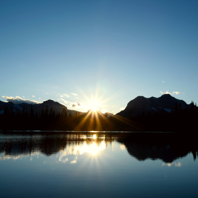 """""""Sunset on Buller Lake 04"""" stock image"""