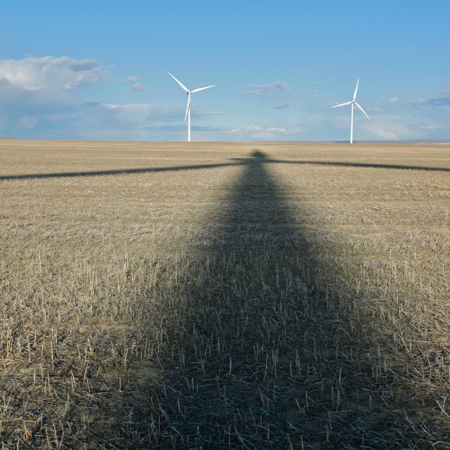 """Wind Turbine shadow"" stock image"