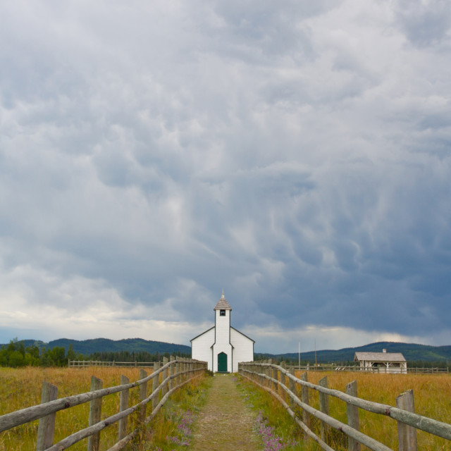 """""""Country Church"""" stock image"""