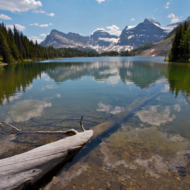 """""""Sunburst Lake Rocky Mountains"""" stock image"""