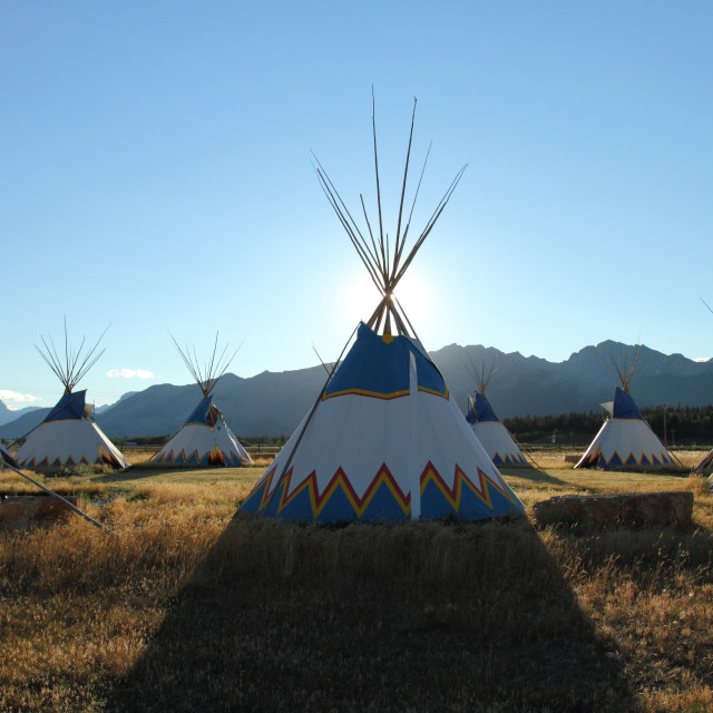 """Teepees"" stock image"