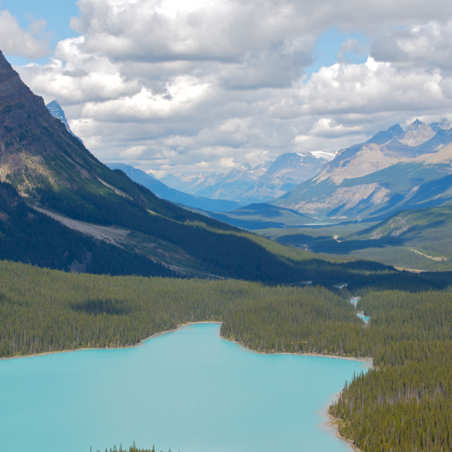 """""""Mountain Lake in the Canadian Rockies"""" stock image"""