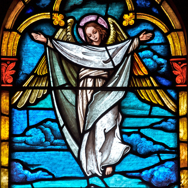 """Stained Glass Angel"" stock image"