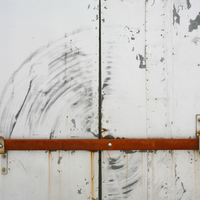 """Barred door"" stock image"
