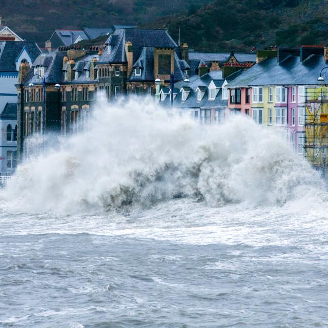 """Aberystwyth Storm"" stock image"
