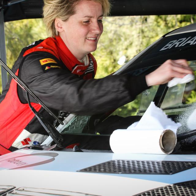 """""""Emma Gilmour, rally driver."""" stock image"""