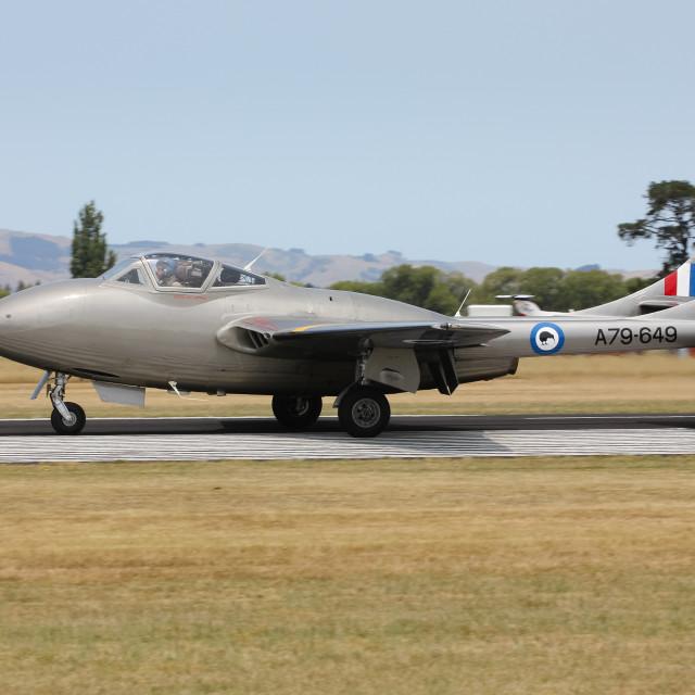 """Vampire jet aircraft"" stock image"