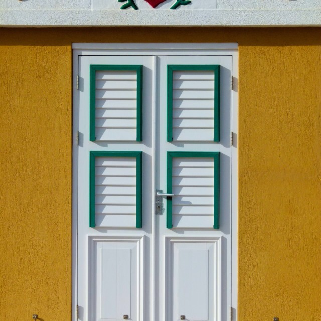 """Dutch door, Aruba"" stock image"