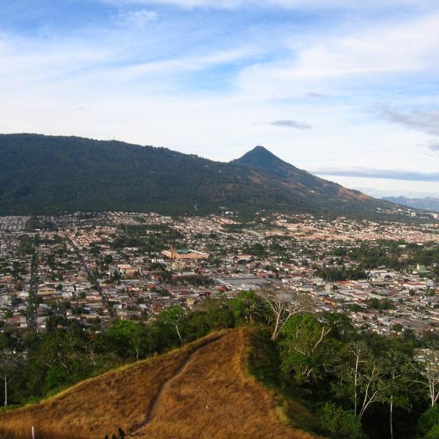 """Cerro la Gloria, San Salvador"" stock image"
