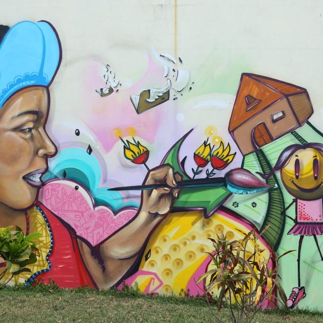 """""""Political Graffiti, San Salvador"""" stock image"""