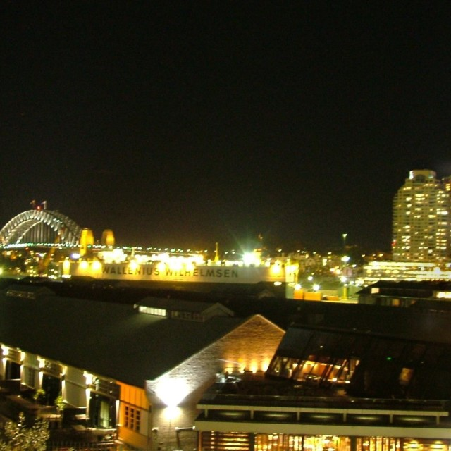 """Sydney Nightscape Panoramic"" stock image"