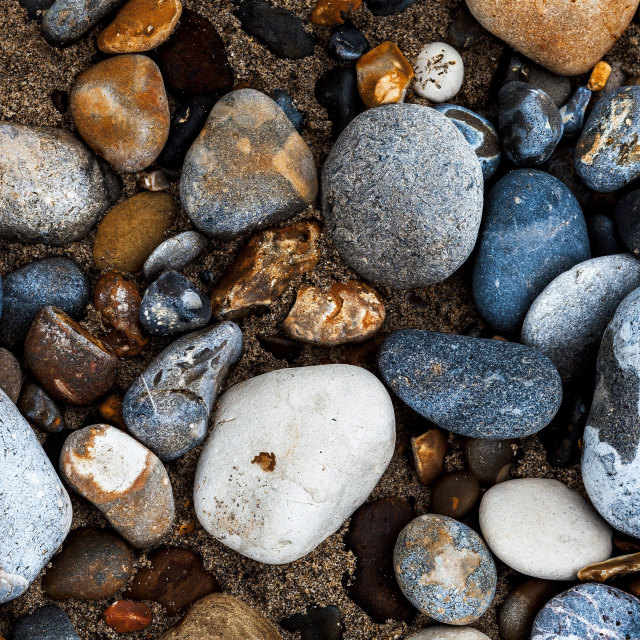 """Pebbles on beach"" stock image"