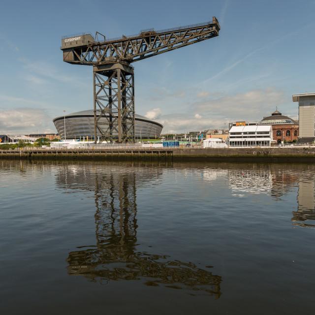 """Finnieston Crane, Glasgow"" stock image"