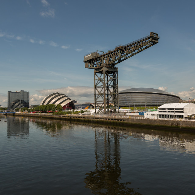 """River Clyde, Glasgow"" stock image"