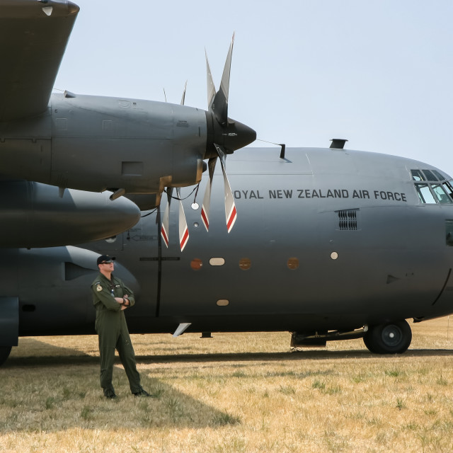 """Hercules transport plane"" stock image"